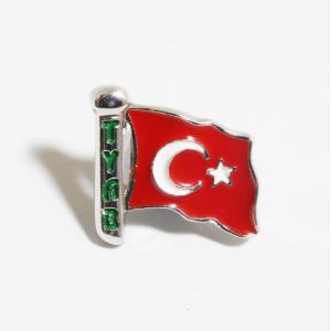 Türk Bayrağı (Gümüş Renk - Küçük Boy)
