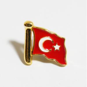 Türk Bayrağı (Sarı Kaplama - Küçük Boy)